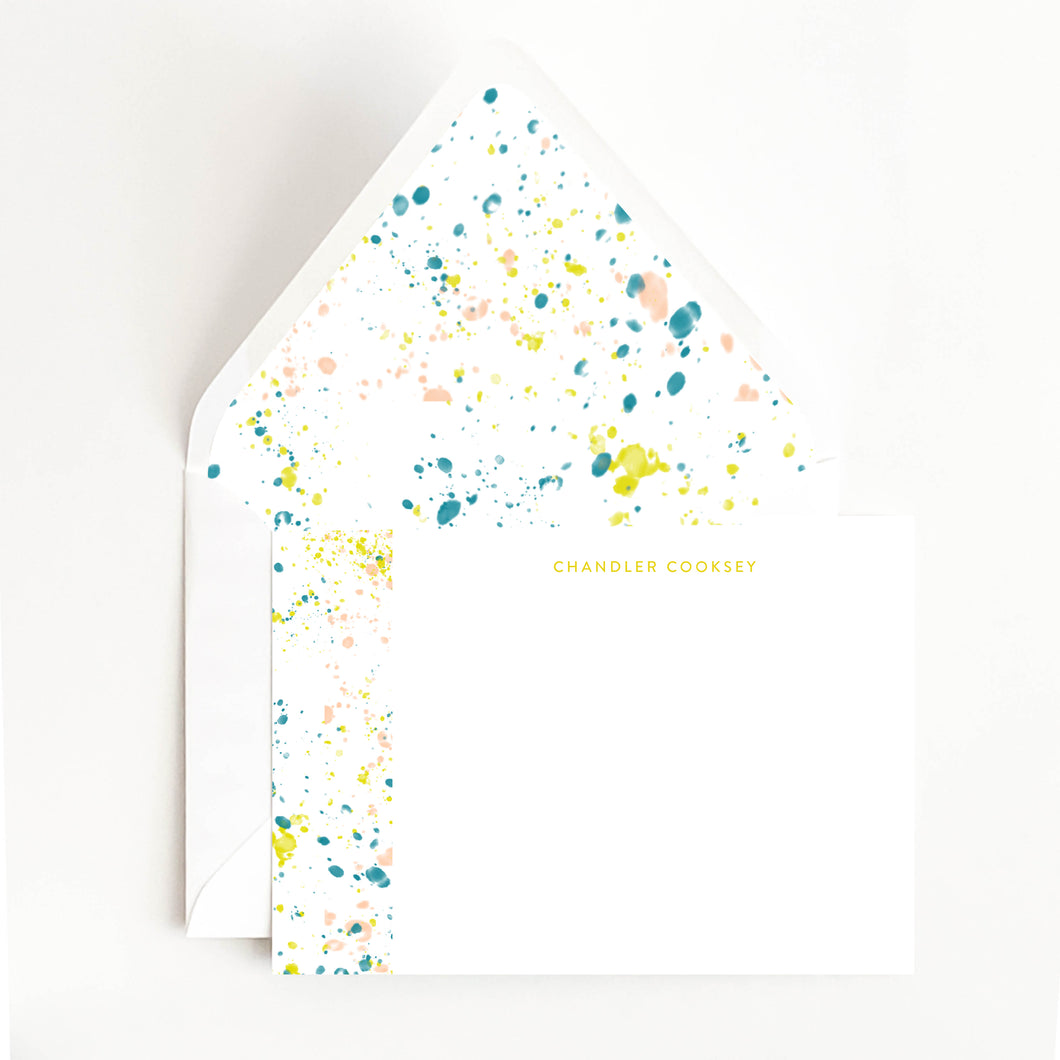 Paint Splatter Stationery