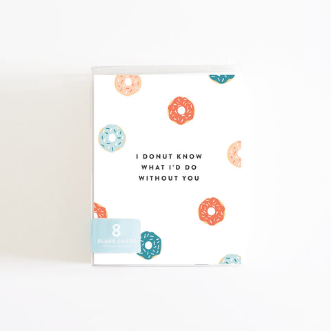 Donut Love Boxed Set of 8 Cards