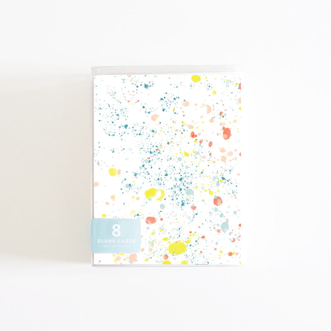 Paint Splatter Boxed Set of 8 Cards