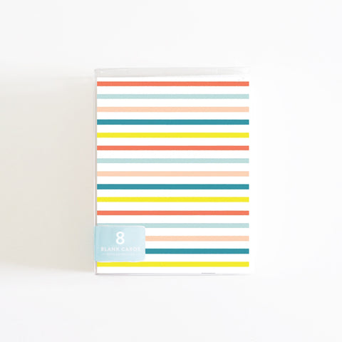 Colorful Stripes Boxed Set of 8 Cards