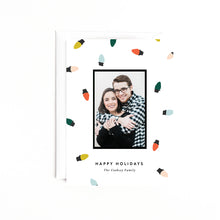 Load image into Gallery viewer, Christmas Lights Personalized Holiday Photo Card