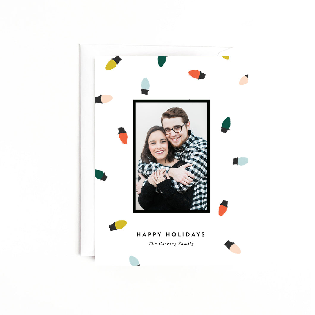 Christmas Lights Personalized Holiday Photo Card