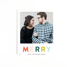 Load image into Gallery viewer, MERRY Personalized Holiday Photo Card