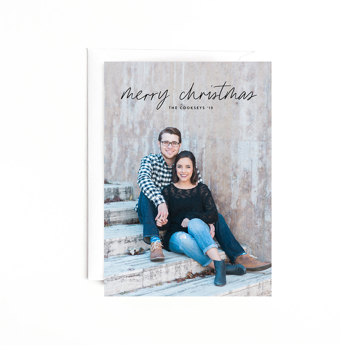 Full Photo Personalized Holiday Photo Card