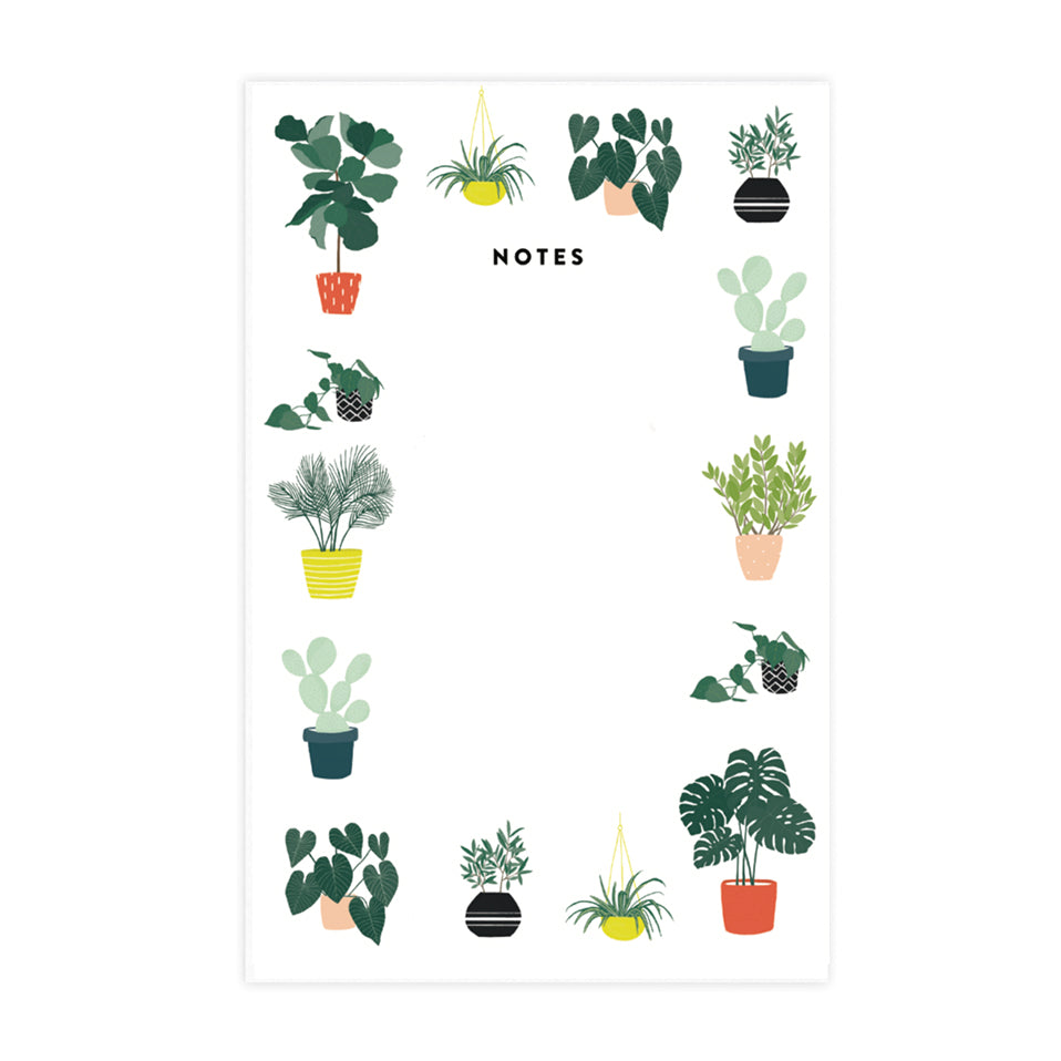 Plant Pattern Notepad