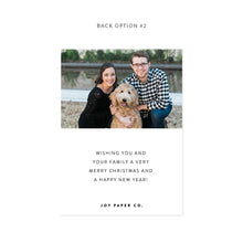 Load image into Gallery viewer, Full Photo Personalized Holiday Photo Card