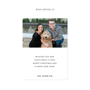 MERRY Personalized Holiday Photo Card