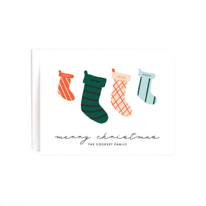 Stockings Personalized Holiday Card