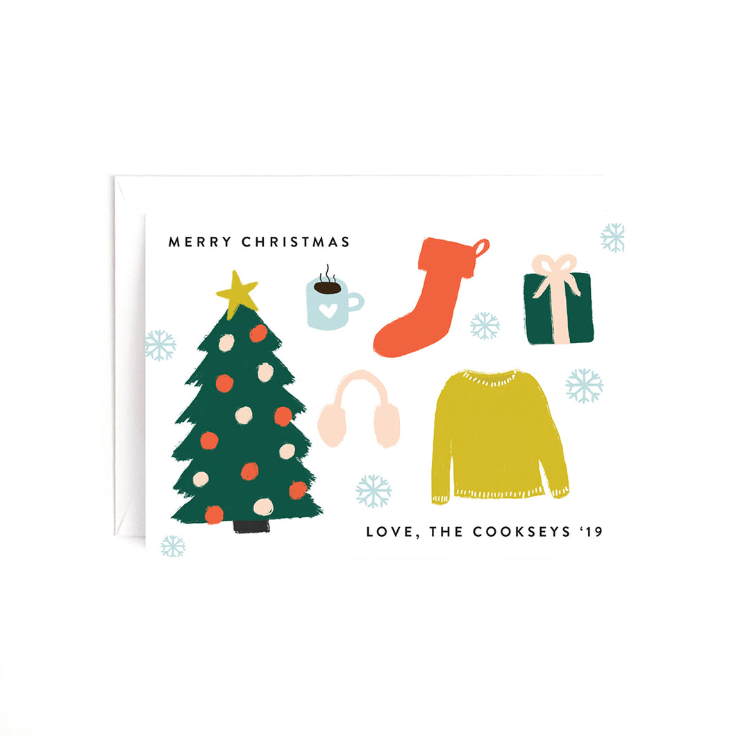 Christmas Illustrations Personalized Holiday Card