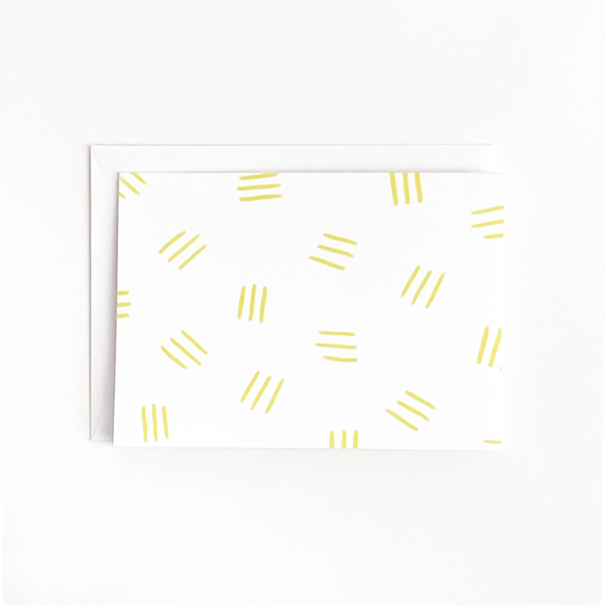 Yellow Line Pattern Card