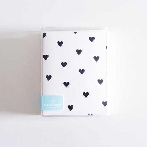 Black Hearts Boxed Set of 8 Cards