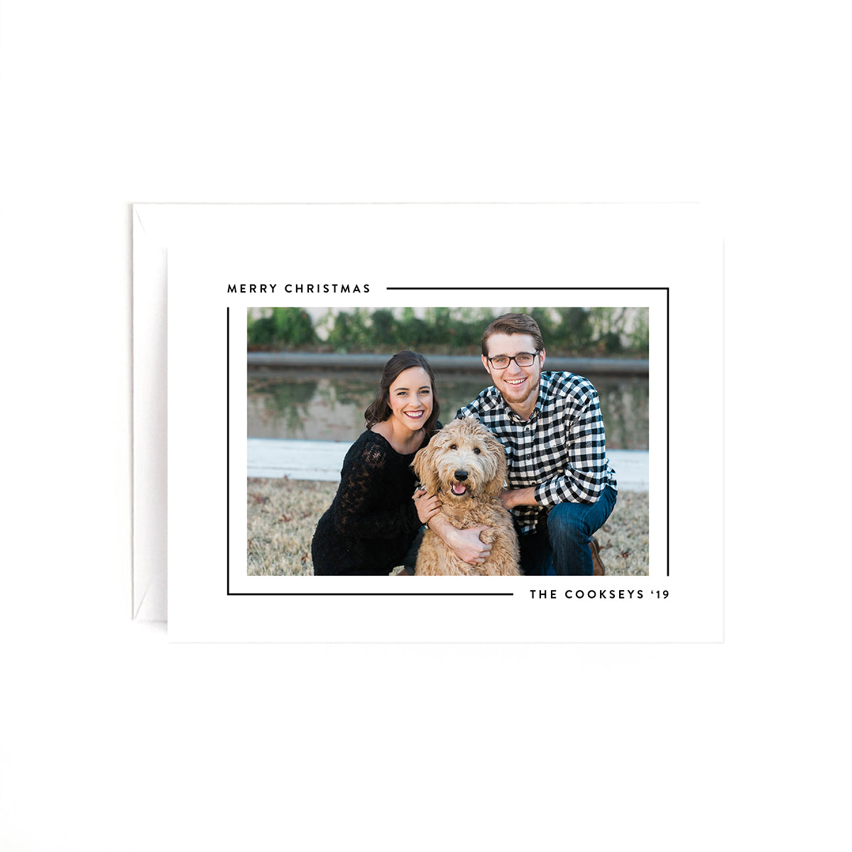 Minimal Personalized Holiday Photo Card