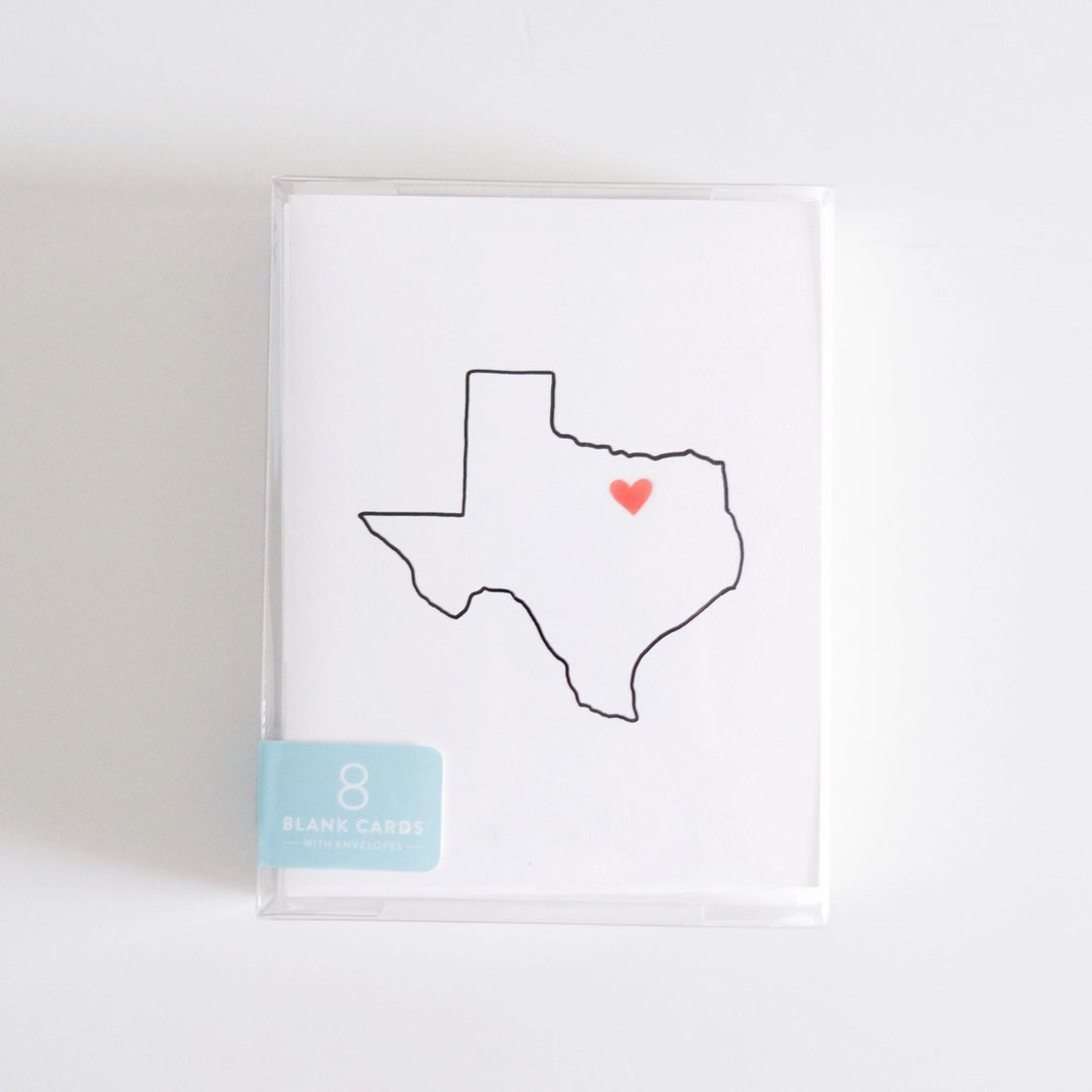 Texas Boxed Set of 8 Cards