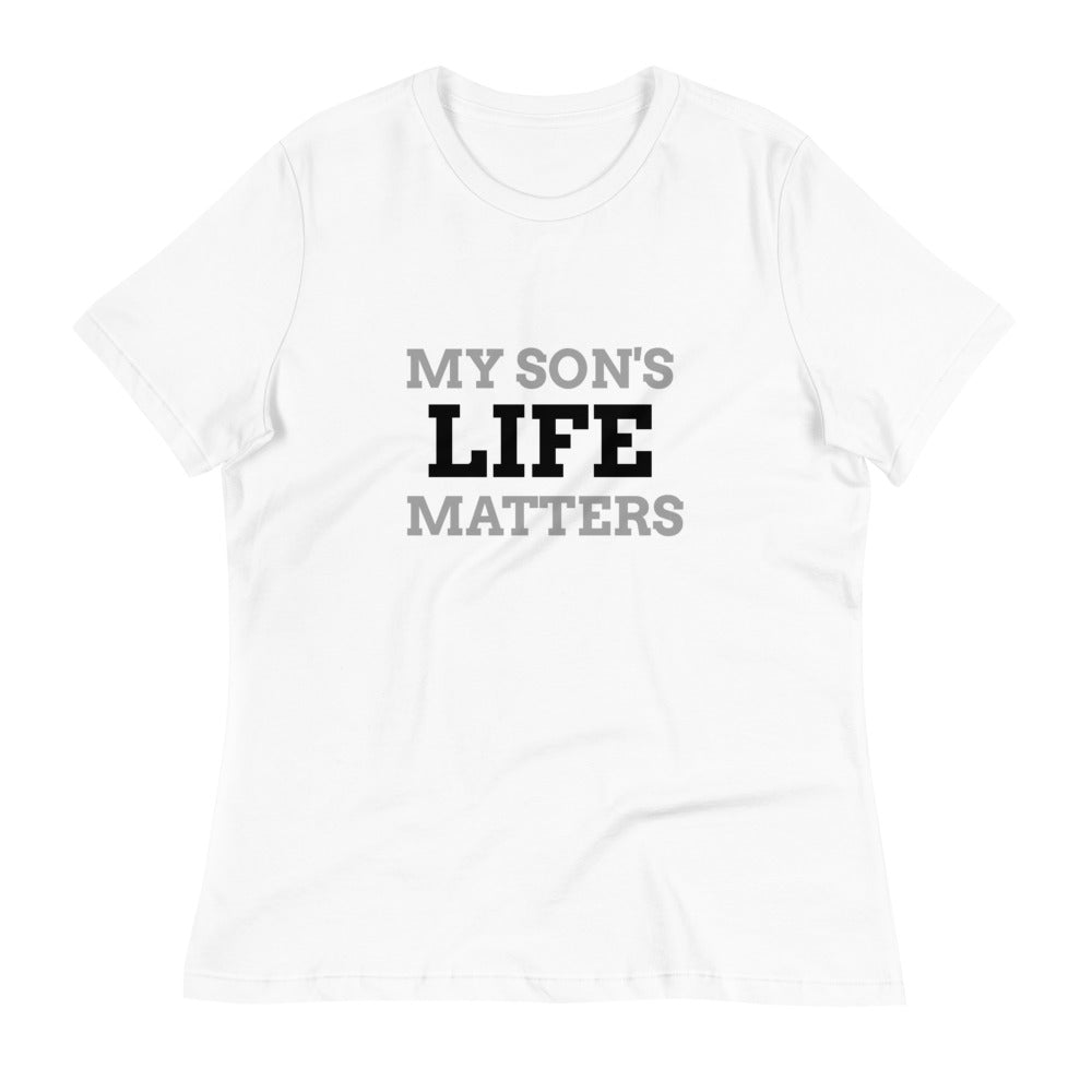 My Son's Life Matters Women's Tee - Brights