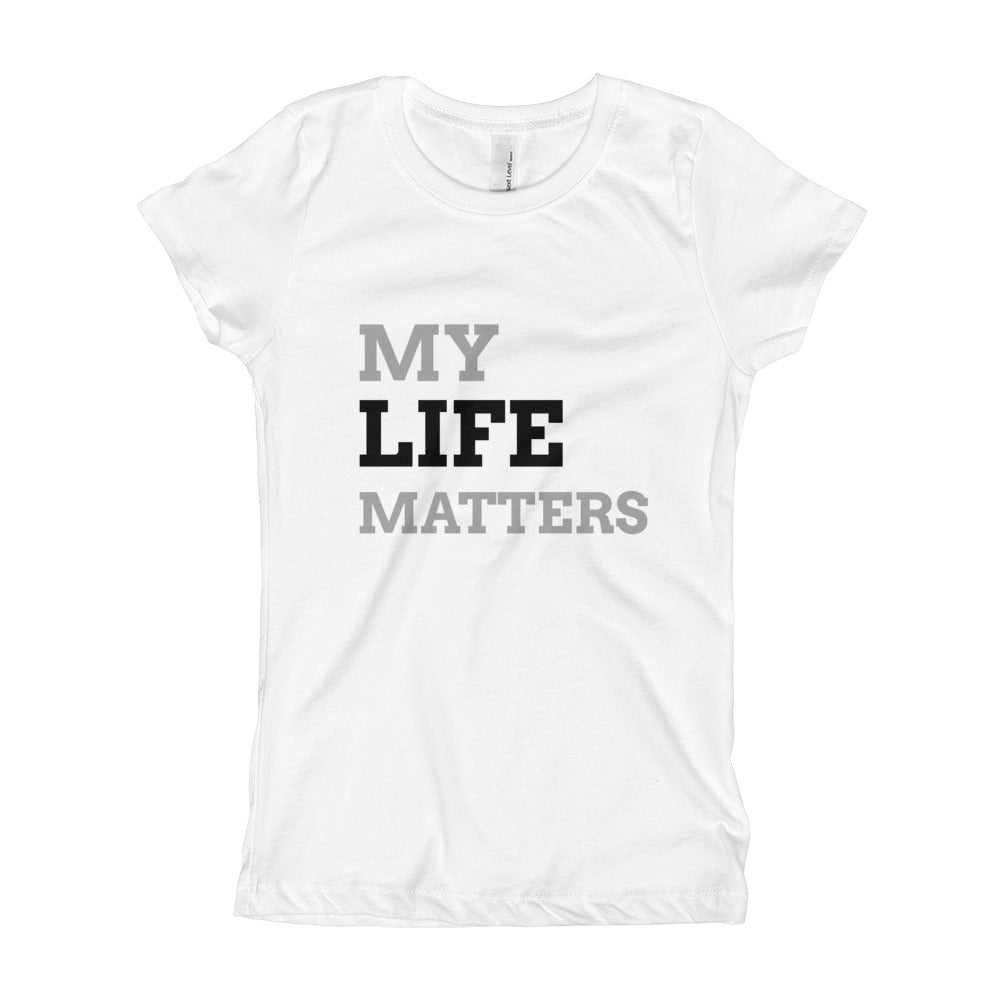 My Life Matters - Girl's Youth Tee in Brights