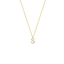 Load image into Gallery viewer, Personalized pave' letter necklace