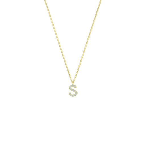 Customized diam letter necklace