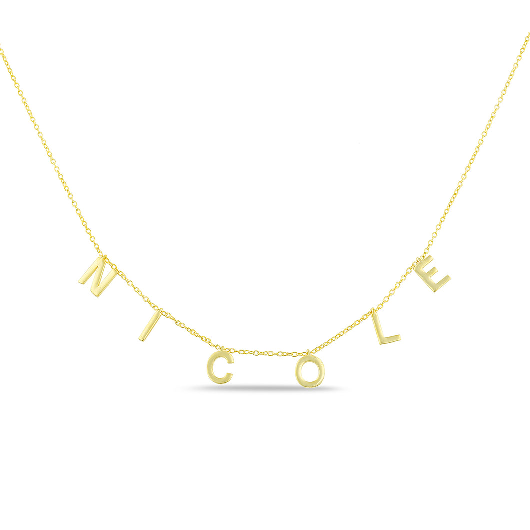 Personalized name necklace plain letters