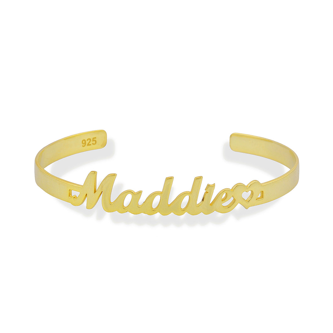 Customized bangle bracelet with handwriting name