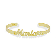 Load image into Gallery viewer, Customized bangle bracelet with handwriting name