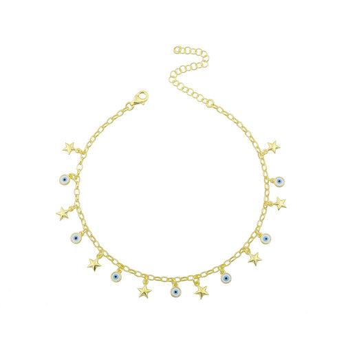 Anklet stars and evil eyes