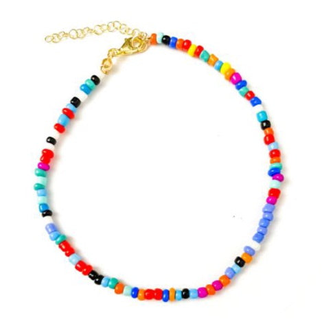 Anklet  colorful beads