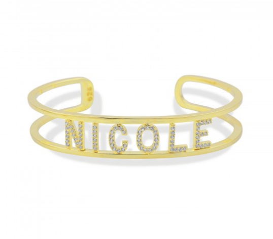 Personalized name  bangle pave'