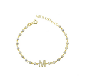 Personalized letter bracelet tennis