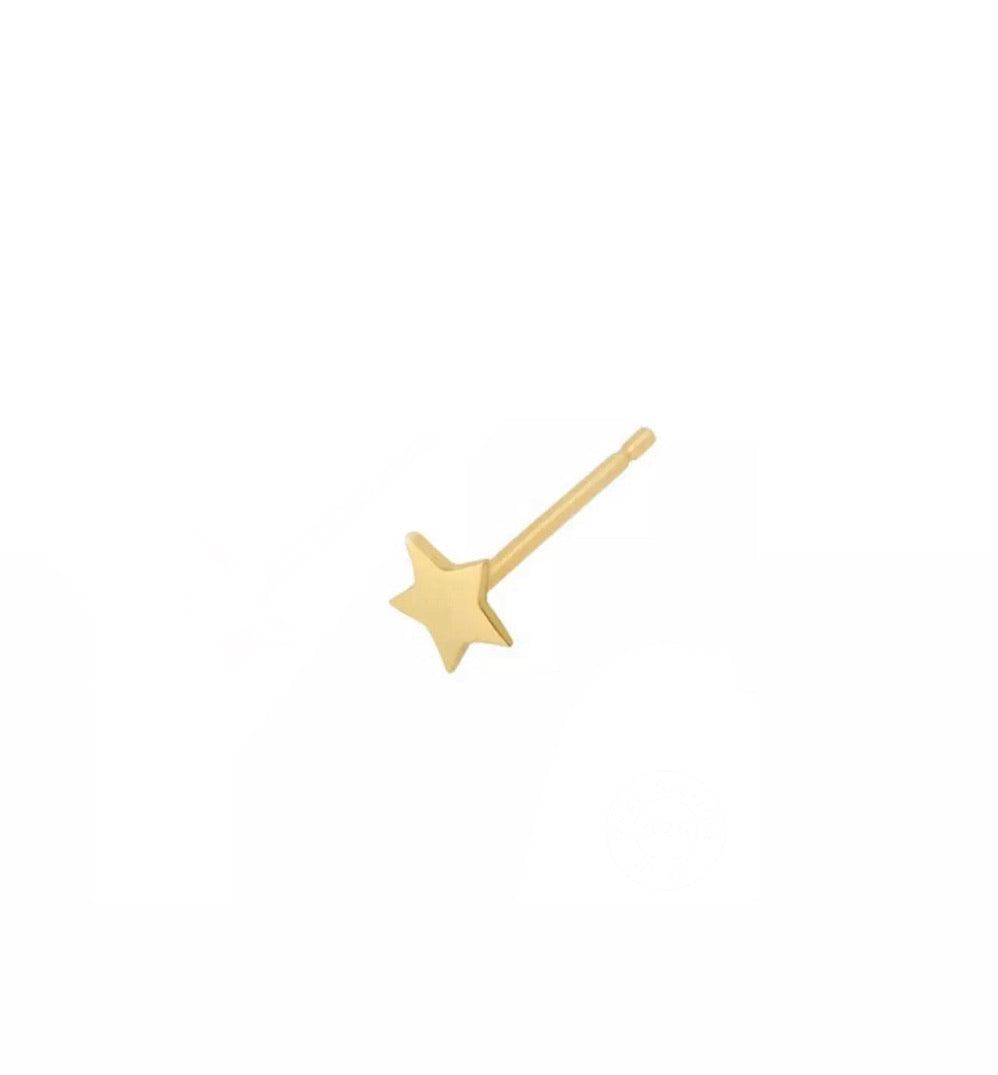 Star stud earring plain