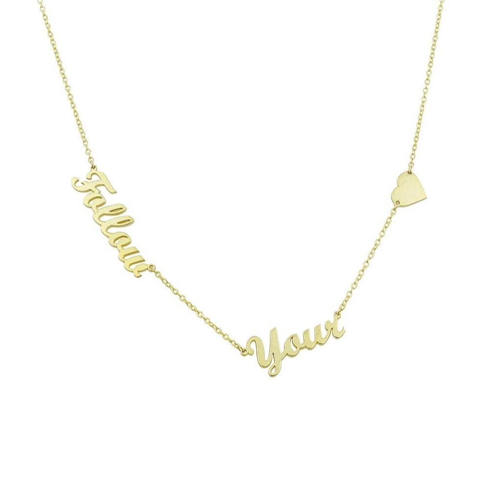 """Follow your heart"" necklace"