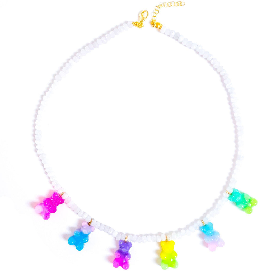 GUMMY BEAR BEADS NECKLACE NEON