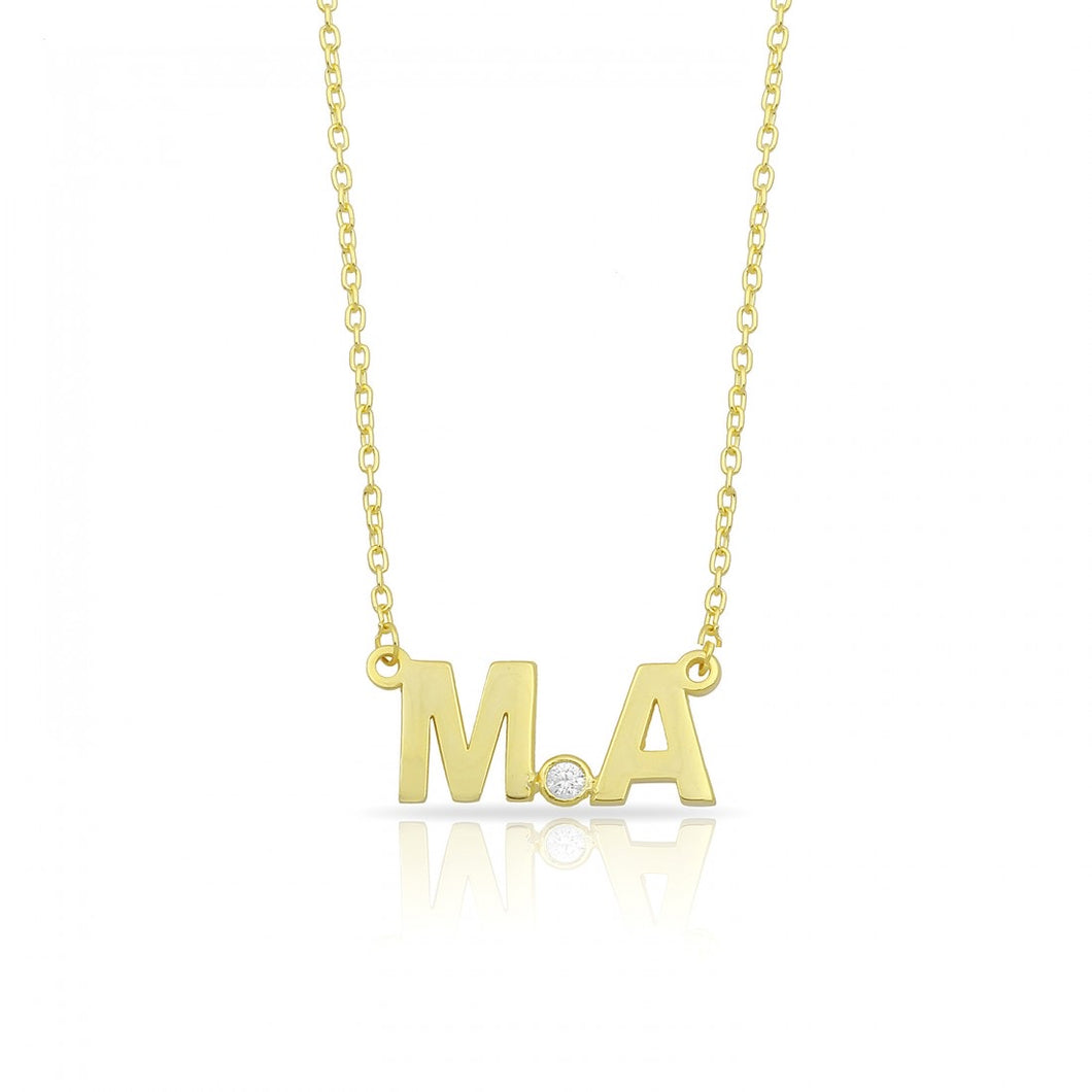 Personalized 2 letters necklace
