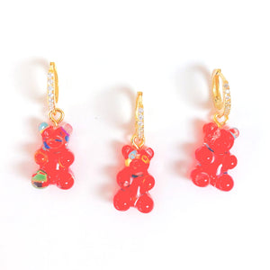 Gummy bear earring red