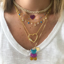 Load image into Gallery viewer, Gummy bear giant necklace with initial