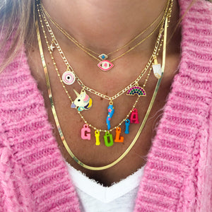 Personalized name resin necklace