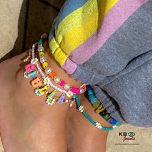 Load image into Gallery viewer, Personalized anklet with color letters name
