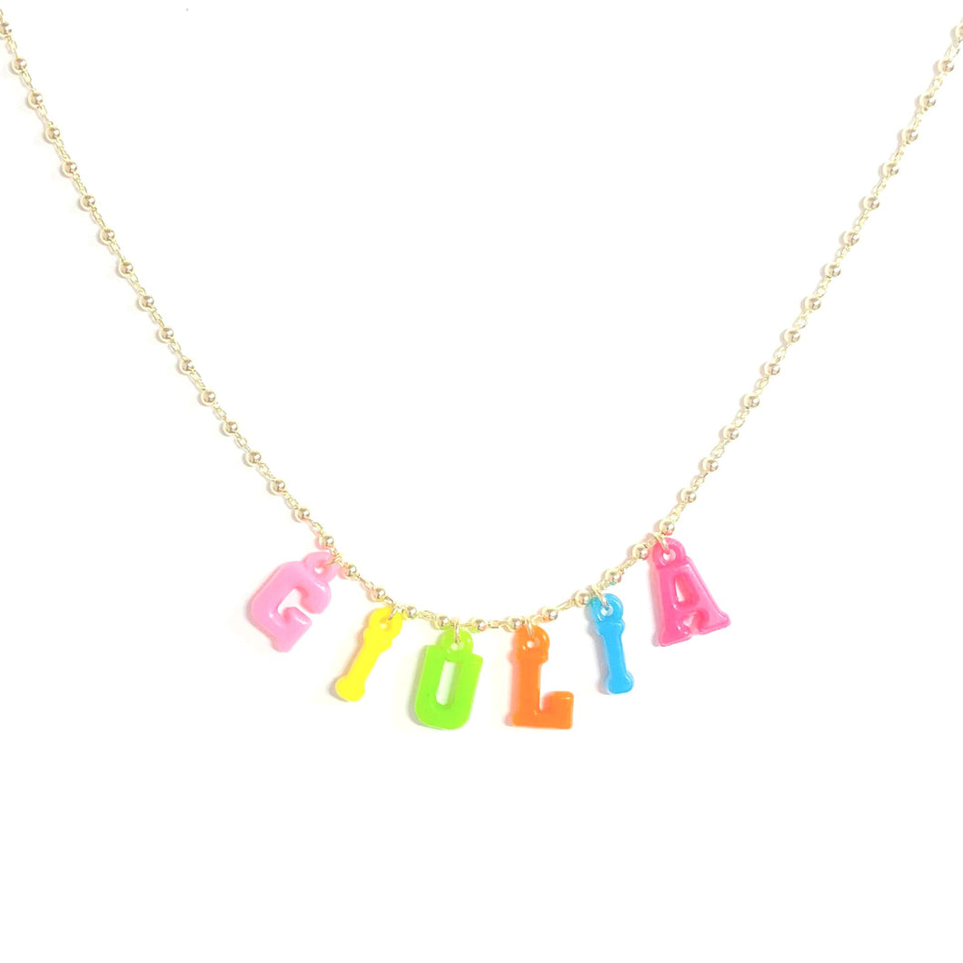 CUSTOMIZED RESIN NAME NECKLACE