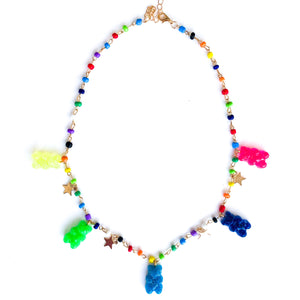 Gummy bear necklace rainbow