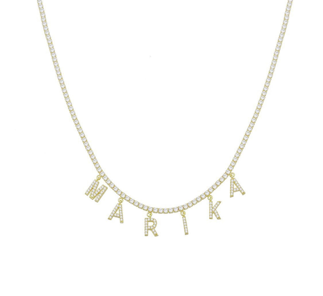 CUSTOMIZED TENNIS NAME NECKLACE