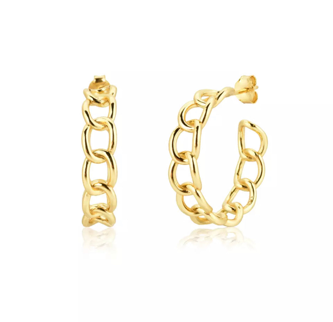 Chain hoops earrings