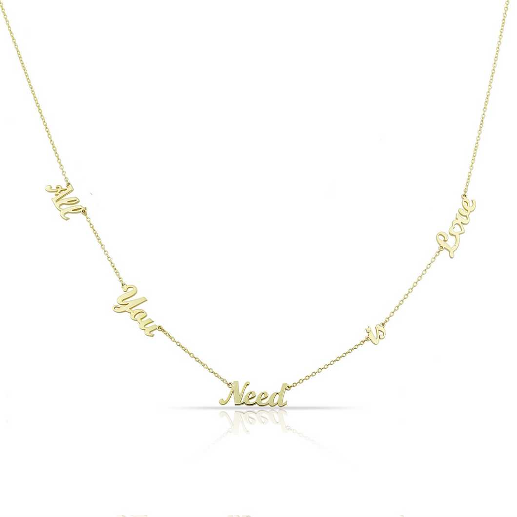"""All you need is love"" necklace"