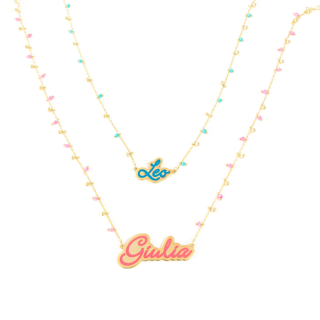 CUSTOMIZED NAME NECKLACE ENAMEL