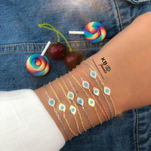 Load image into Gallery viewer, GIULIA LUCKY EYE BRACELET DIAM