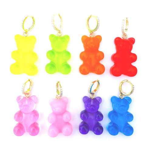 Giant gummy bear earring