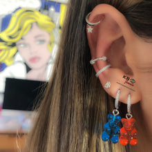 Load image into Gallery viewer, Gummy bear earring silver
