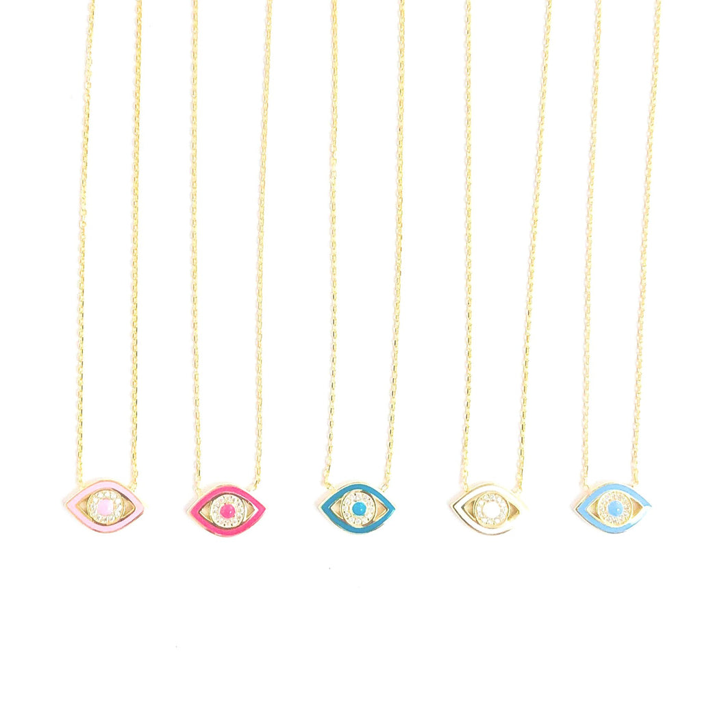 EYE ENAMEL NECKLACE