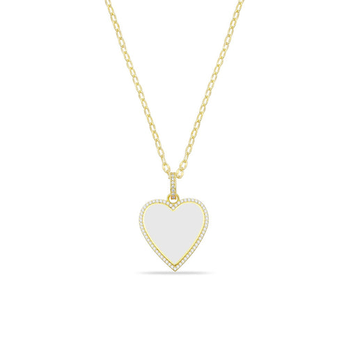 Giant white heart necklace 🤍