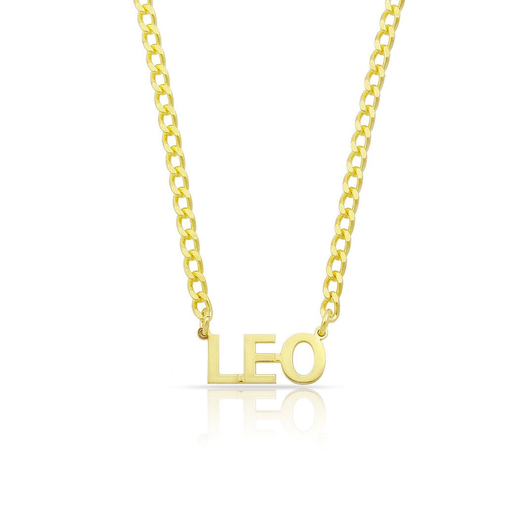 Personalized block letters necklace