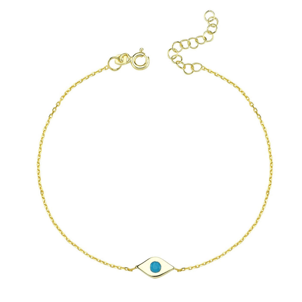 Kids lucky evil eye bracelet plain