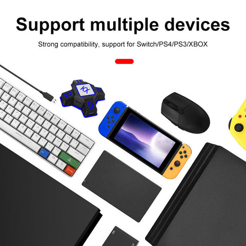 Bestgay Adapter,KX USB Game Controller Converter Keyboard Mouse Adapter for  Switch/Xbox/PS4/PS3